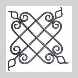 smedejerns dekoration i kraftig stål som bruges som pynt dekoration på smedejernslåger smedejernshegn smedejernsporte