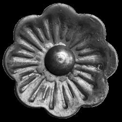 Dekorations blomst i smedejern